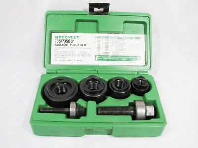 Greenlee 735Bb Ball Bearing Knockout Punch Set - Lightly Used