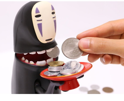 Spirited Away Miyazaki Hayao Cry None-Face Man Piggy Bank Money Boxes Music Gift