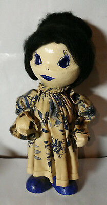 Antique Hand Made Asian Paper Mache Doll