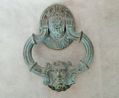 antique style reclaimed bronze / brass heavy Greek Zeus God door knocker