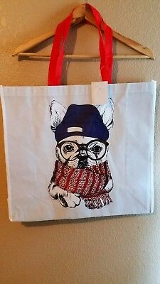 REUSABLE French Bulldog Shopping Bag Eco Travel Tote NWT