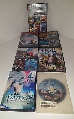 7 DVDS 38 Movies Fantasy family A Series of Unfortunate Events, Merlin, + MORE