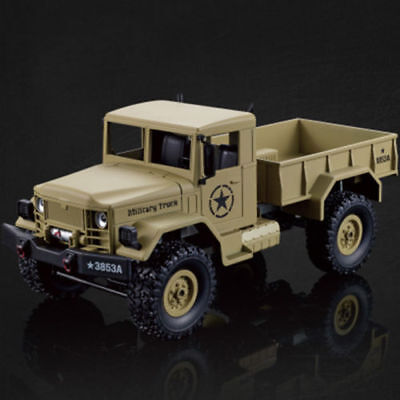 HengLong Yellow 1/16 Scale 4*4 US RC Military Truck RTR Crawler 3853A Toy Grade