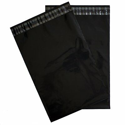 100 6x9 Black POLY MAILERS SHIPPING ENVELOPES BAGS SELF SEALING MAILING