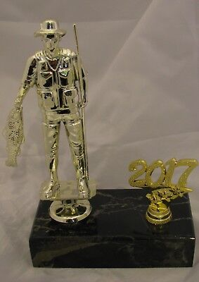 Fisherman  Figurine Trophy 190mm with Year  Engraved FREE