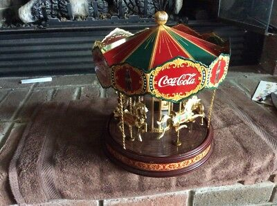 Coco cola Tin Carousel Franklin Mint Working Coke As Is