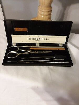 Vintage Hamilton Bell Dissecting Kit Student College Lab School (early 60's)
