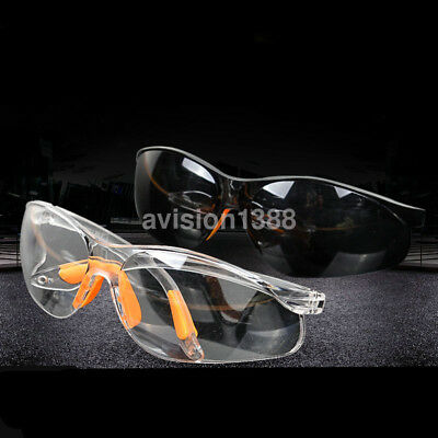 Clear Anti-impact Factory Lab Work Welding Safety Eye Protective Goggles Glasses