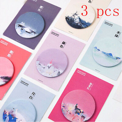 3pcs/lot Chinese Style Memo Pads Kawaii Sticky Notes School Office Supplies