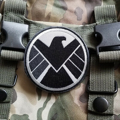 New AVENGERS MARVEL AGENTS OF SHIELD EMBROIDERED HOOK PATCH T-SHIRT JACKET DARK
