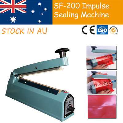 "200mm Impulse Heat Mini Sealing 8"" Electric Plastic Hand Poly Bag Hand Sealer"