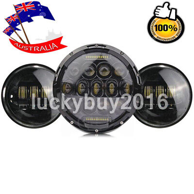 "Harley Touring 7 Inch LED Daymaker Projector Headlights & 4.5"" Fog Passing Lamps"