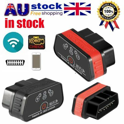 KW903 ELM327 OBDII Bluetooth WiFi OBD2 Car Diagnostic Scanner for IOS & Android