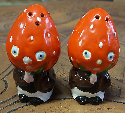 """Vintage Rare """"strawberries"""" Salt & Pepper Set, Part Of 60 Years Collections"""