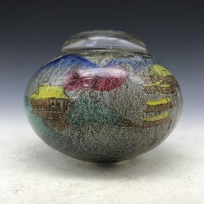 Collect old Beijing coloured glaze is hand-painted scenery