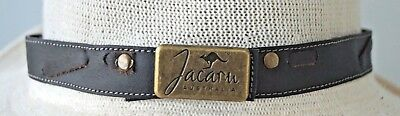 Hat Band Leather for Stetson Akubra JACARU and Other Style Hats Dark Brown