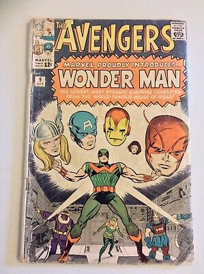 The Avengers #9 (Oct 1964, Marvel) First Appearance of Wonder Man! FREE SHIPPING