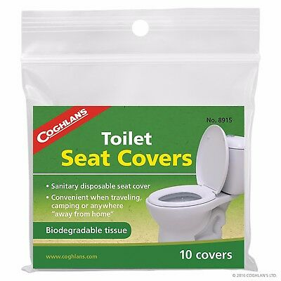 Coghlans Toilet Seat Covers Health Safety Hygiene Sanitary Disposable COG8915