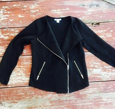 Motherhood Maternity Black Moto Jacket Size M