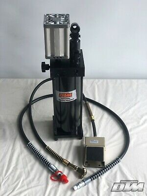 50 Ton Air/Hydraulic Pump & Hose assembly with Pedal  . (H510)