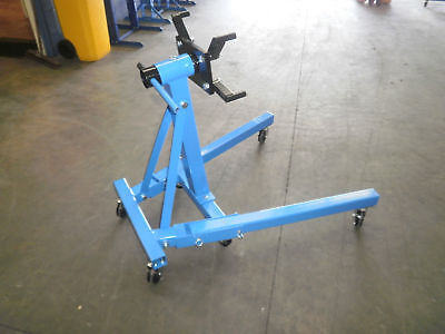 Engine Stand  900Kg  Folding Legs 6 Caster Wheels  New (D5606)