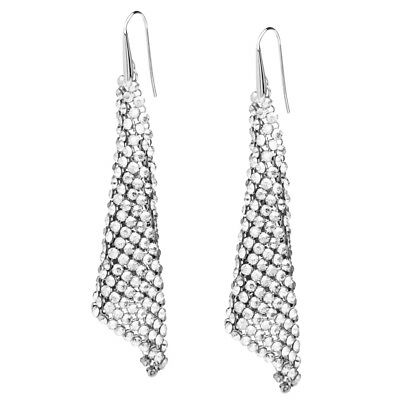 NEW Swarovski Fit Crystal Silver Shade Earrings