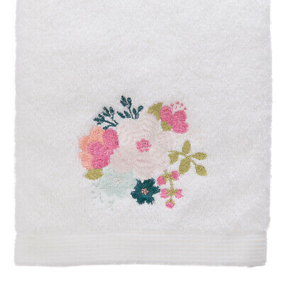 NEW Pilbeam Embroidered Spring Flowers Hand Towel