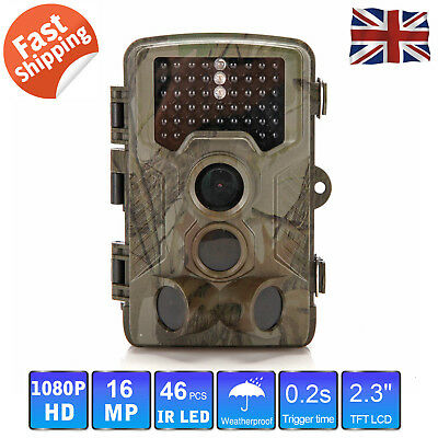 16MP 1080P Hunting Camera Trail Scouting Wildlife game Night Vision LED Infrare