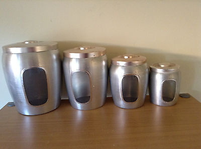 VINTAGE CANISTERS -- SET  of 4