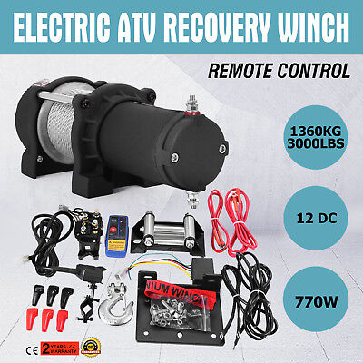 3000LB 12V Electric Winch With Wireless Remote Recovery WINCH ACTIVE GOOD