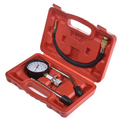 0-300 PSI Gasoline Compression Check Tester Set Car Eninge Motor Dial Gauge