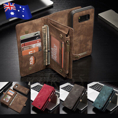 For Samsung S10 5G S9 Plus Note 9/8 Leather Flip Wallet Card Slots Case Cover AU
