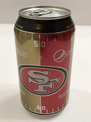 San Francisco 49ers Pepsi Soda Can 2017 Limited Edition NFL 12 oz New Unopened