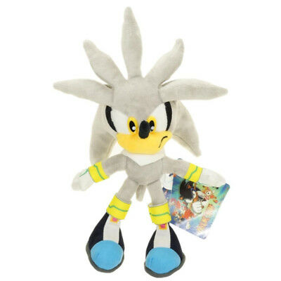 """New Silver Sonic the Hedgehog 11"""" Figure Plush Soft Doll Stuffed Toy 28cm Gift"""
