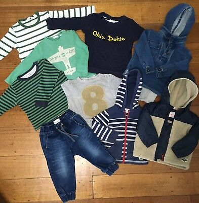 Country Road, Seed Boys Clothing Bundle Size 18-24 Months Size 1 Size 2 Bulk