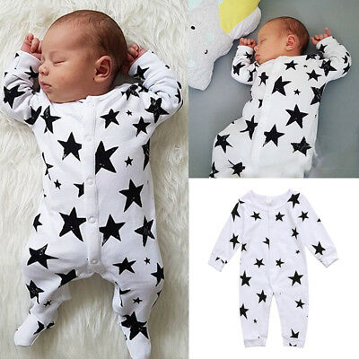 Baby Boys Girls Newborn Infant Top Romper Jumpsuit Bodysuit Clothes Outfit Set