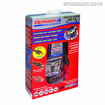 OptiMate 4 Charger BMW Can-Bus lead included UK Supplier & Warranty 2019 (NEW)