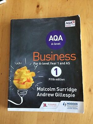 AQA Business for A Level 1 (Surridge & Gillespie) by Andrew Gillespie,...