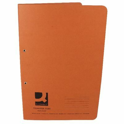 Q-Connect Foolscap/A4 35mm Capacity Orange Transfer File (Pack of 25) [KF26059]