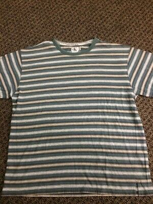 Vintage Calvin Klein Striped Shirt Guess 90's Retro Grunge Size XL Rare