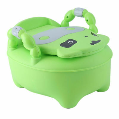 Kids Toilet Seat Baby Children Toddler Training Potty Trainer Urinal Chair Green