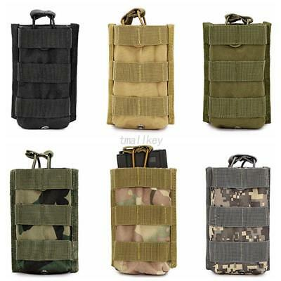 AU Small Tactical Military Molle Magazine Open Top Utility Belt Straps Pouch Bag
