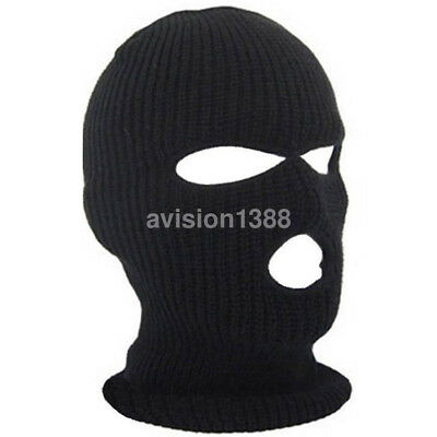 Hot 3 Hole Mask Balaclava Knit Hat Face Shield Beanie Cap Winter Warm Mask UK