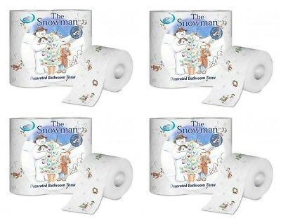 Nicky 'The Snowman' 20 Rolls 3ply Toilet Paper, Soft Festive Bathroom Tissue