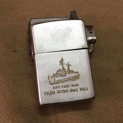 ZIPPO VIETNAM WAR - for sale a zippo with the destroyer TRAN HUNG DAO HQ1
