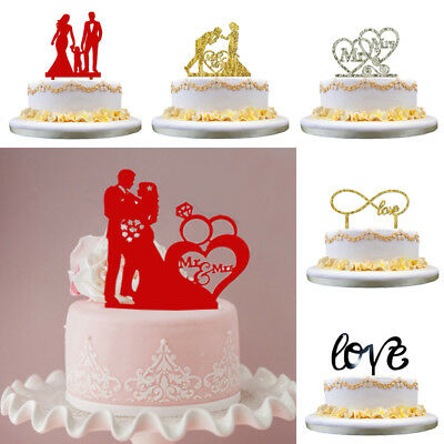 Acrylic Cake Topper Lover Mr & Mrs Wedding Engagement Party Decoration