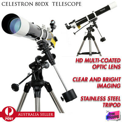 CELESTRON 80DX Pro Astronomical Telescope HD Star Viewing Refractor Monocular