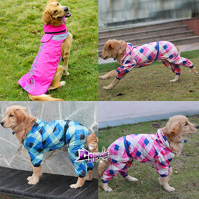 Puppy Pet Big Dogs Raincoat For Waterproof Warm Costume Clothing 10 Size