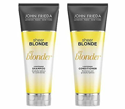 John Frieda Sheer Blonde Go Blonder Lightening Shampoo and Conditioner 250 ml Du