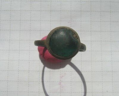 Ancient bronze ring with stone